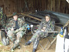 Two great turkey hunting buddies in the dry at Severt Farm on Laurel Fork, Laurel Springs, NC